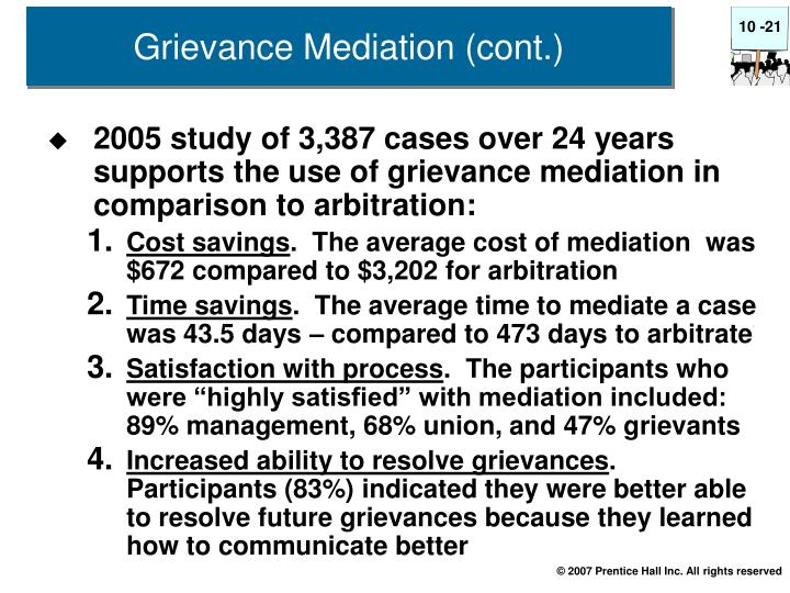 Grievance Mediation (cont.)