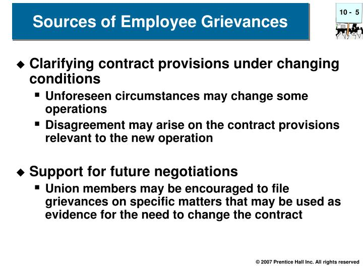 Sources of Employee Grievances