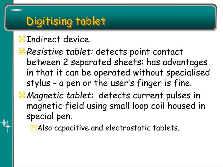 Digitising tablet