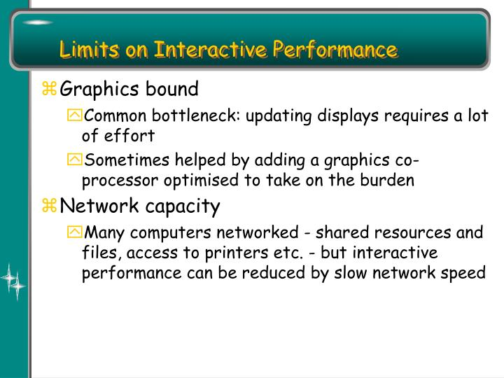 Limits on Interactive Performance
