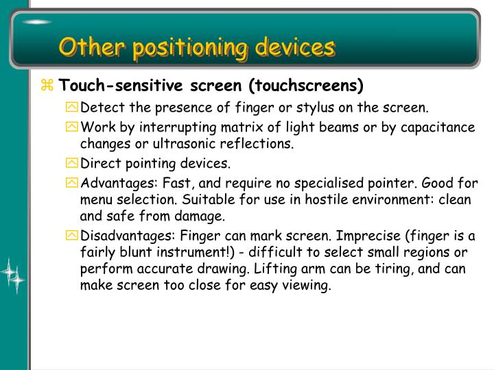 Other positioning devices