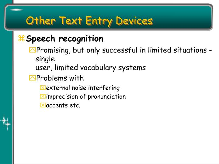 Other Text Entry Devices
