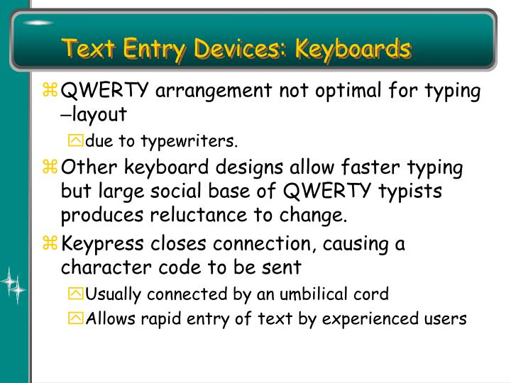 Text Entry Devices: Keyboards