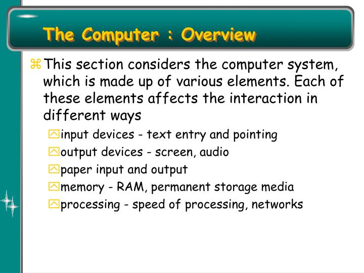 The Computer : Overview