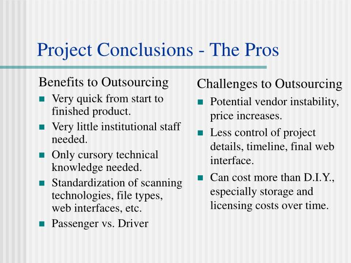 Benefits to Outsourcing