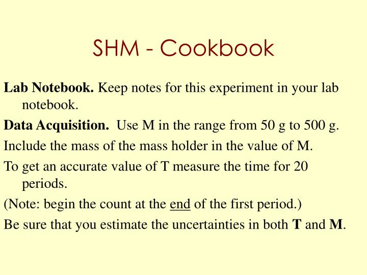 SHM - Cookbook