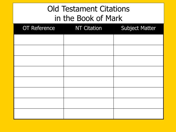Old Testament Citations