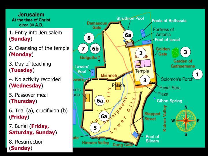 1. Entry into Jerusalem (