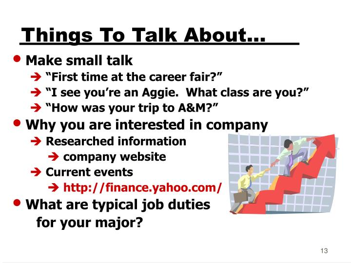 Things To Talk About...