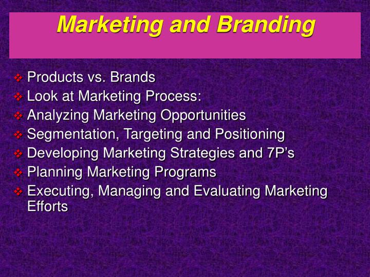 Marketing and Branding