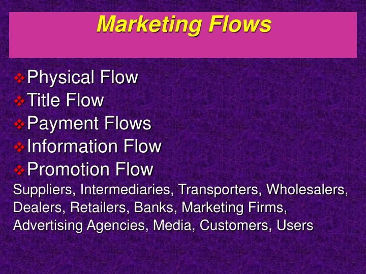 Marketing Flows