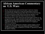 african american commentary on u s wars