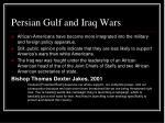 persian gulf and iraq wars