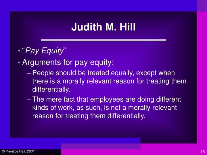 Judith M. Hill