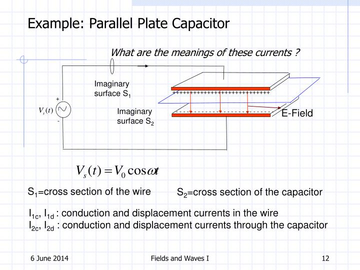 Example: Parallel Plate Capacitor