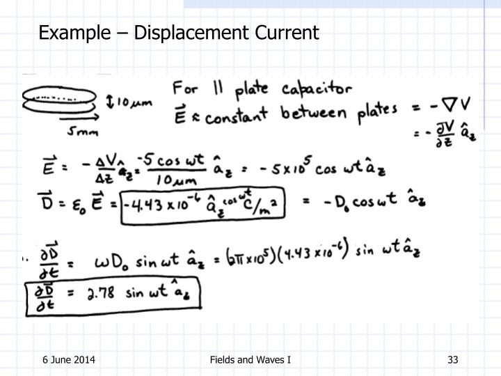 Example – Displacement Current