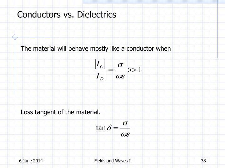 Conductors vs. Dielectrics
