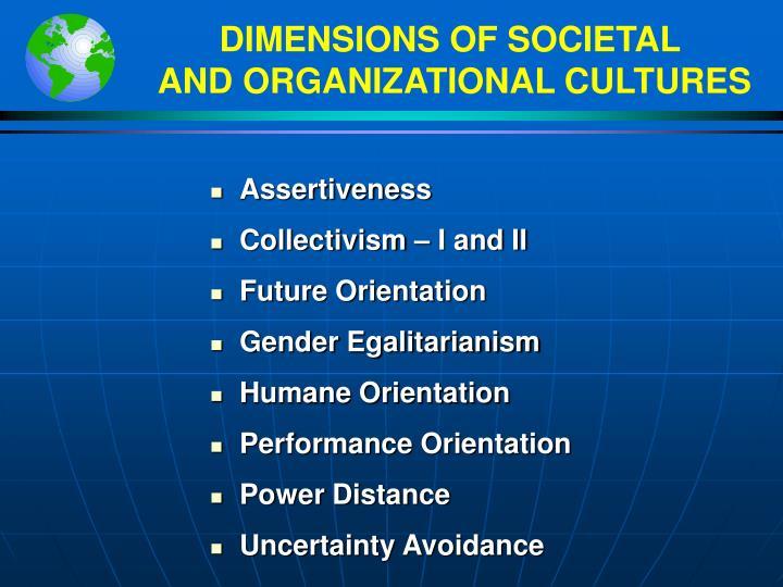 DIMENSIONS OF SOCIETAL