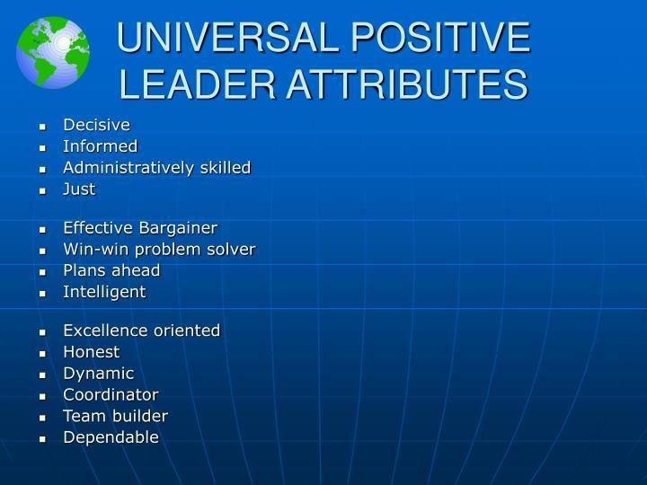 UNIVERSAL POSITIVE
