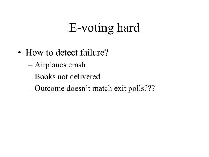 E-voting hard