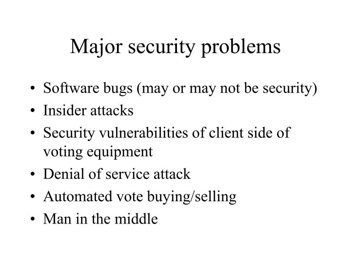 Major security problems