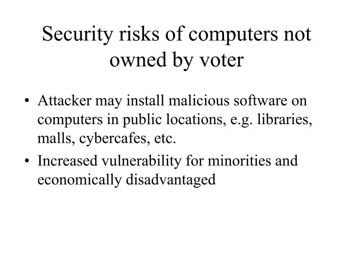 Security risks of computers not owned by voter