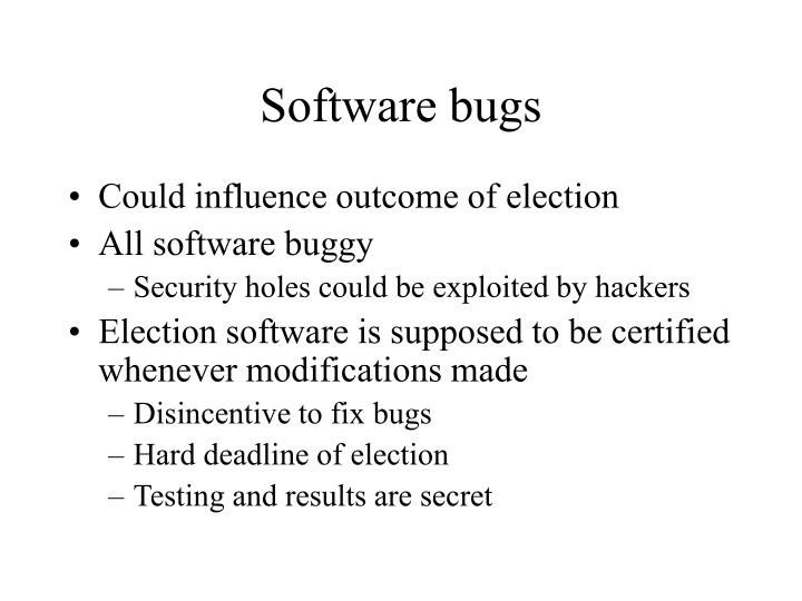 Software bugs