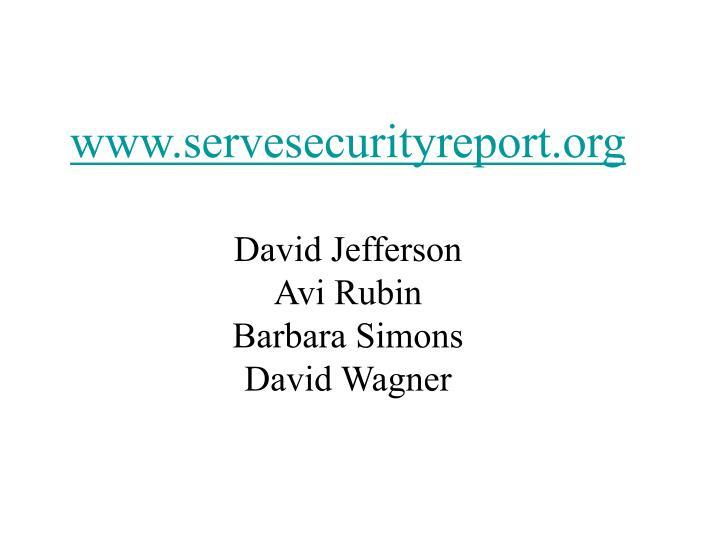 www.servesecurityreport.org