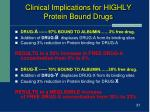 clinical implications for highly protein bound drugs