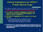 clinical implications for highly protein bound drugs1