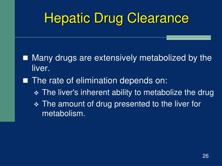 Hepatic Drug Clearance