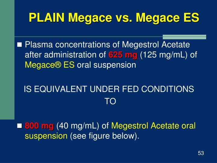 PLAIN Megace vs. Megace ES