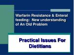 practical issues for dietitians1