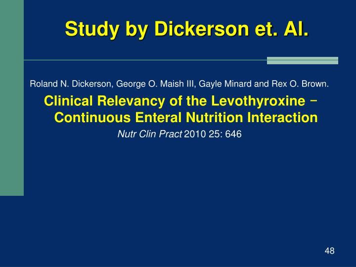 Study by Dickerson et. Al.