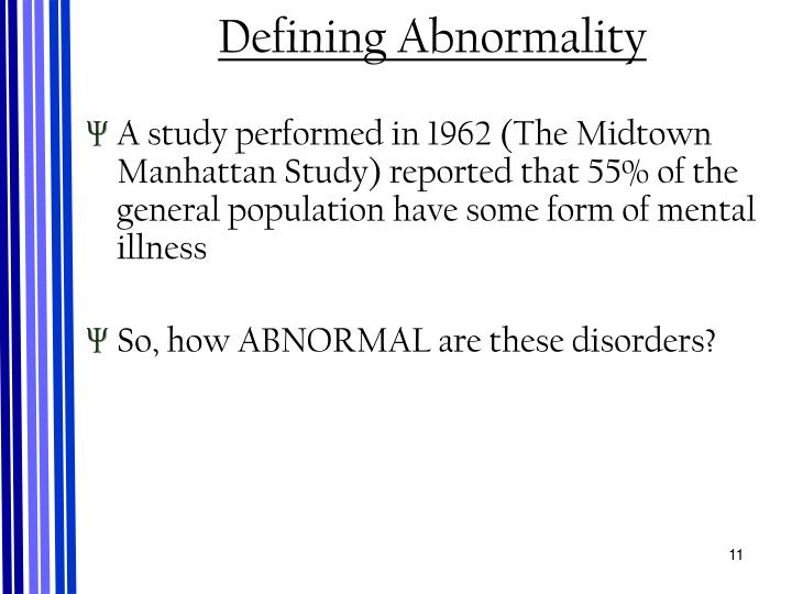 Defining Abnormality