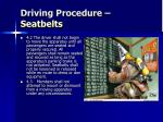 driving procedure seatbelts1