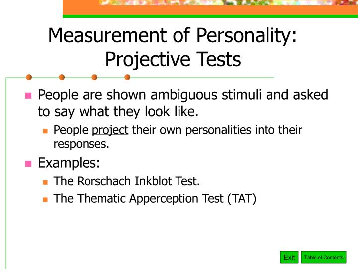 Measurement of Personality: