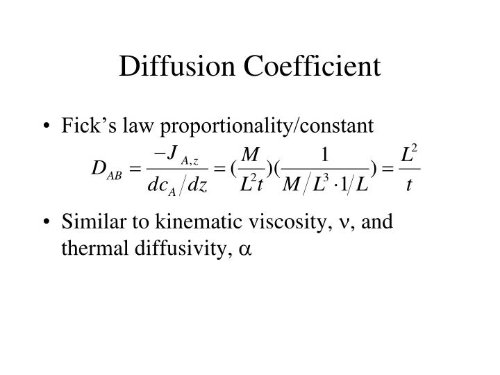 Diffusion Coefficient