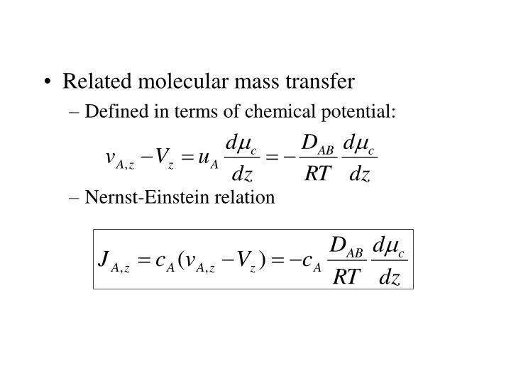 Related molecular mass transfer