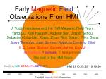 early magnetic field observations from hmi