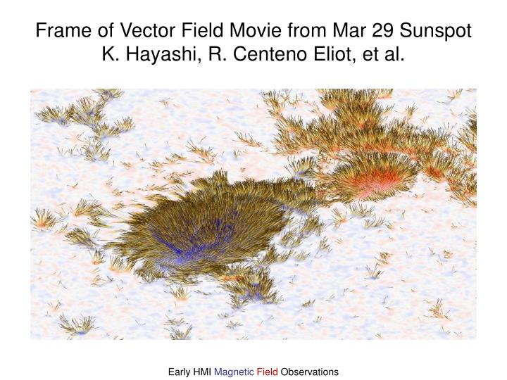 Frame of Vector Field Movie from Mar 29 Sunspot