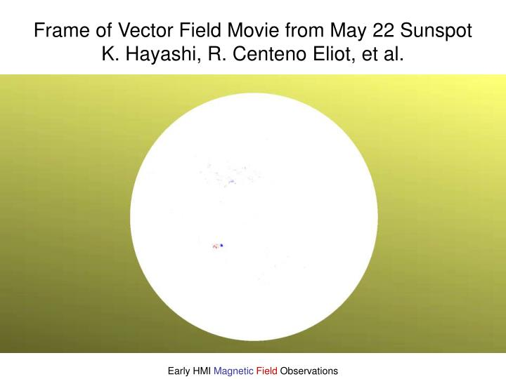 Frame of Vector Field Movie from May 22 Sunspot