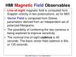 hmi magnetic field observables