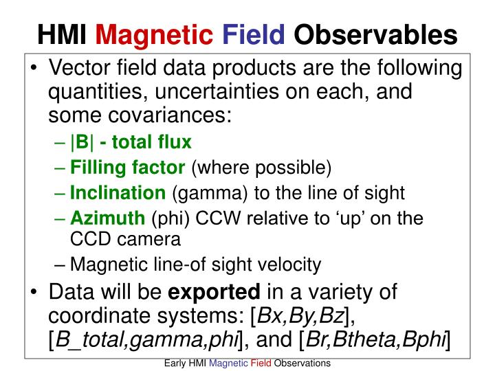Vector field data products are the following quantities, uncertainties on each, and some covariances: