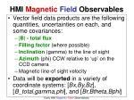 hmi magnetic field observables1