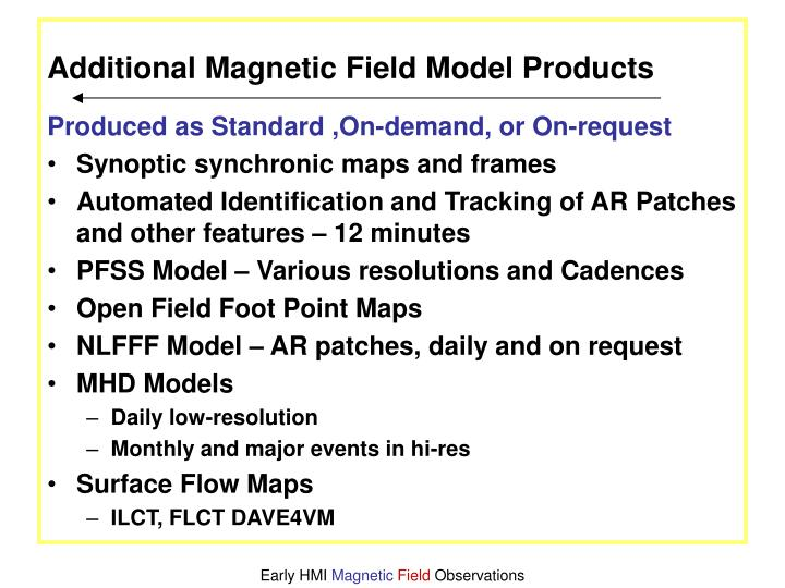 Additional Magnetic Field Model Products