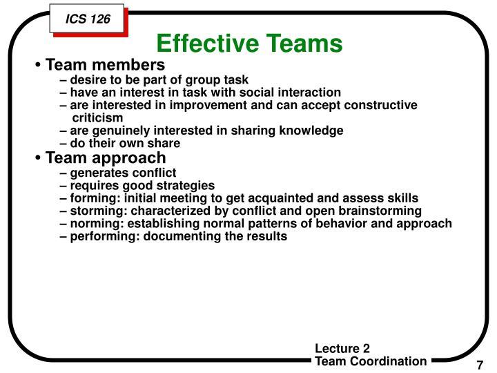• Team members