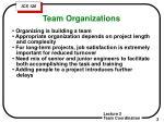 team organizations