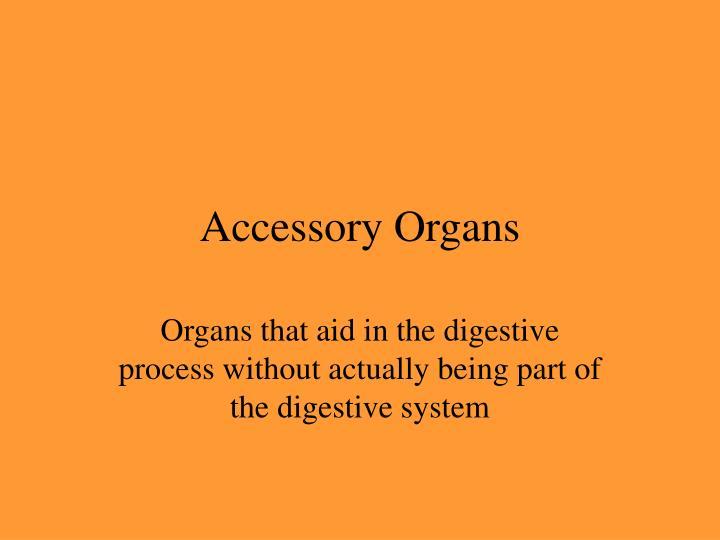 Accessory Organs