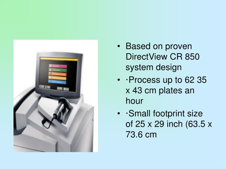 Based on proven DirectView CR 850 system design